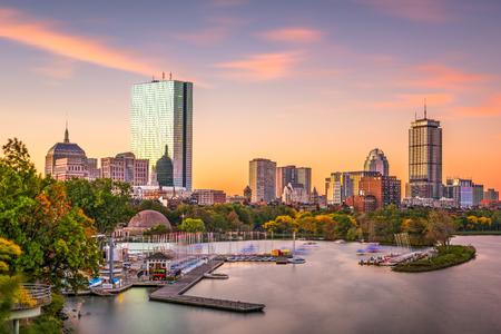 ボストン、マサチューセッツ州、米国のスカイライン。