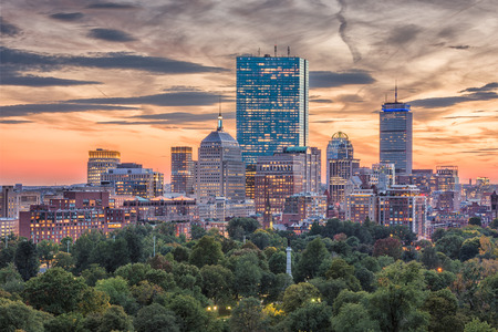 Boston, Massachusetts, USA downtown skyline.