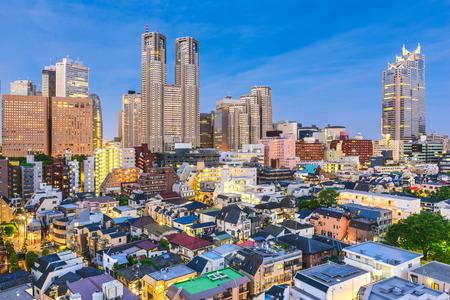 Tokyo, Japan West Shinjuku financial district and neighborhood skyline. Stock Photo - 79541802