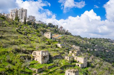 Jerusale,m Israel at Lifta. Lifta is an abandoned Palestinian village.