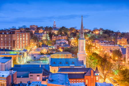 Macon, Georgia, USA downtown skyline. Stock Photo