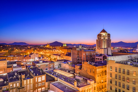 Roanoke, Virginia, USA downtown skyline.
