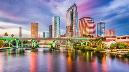 Tampa, Florida, USA downtown skyline on the Hillsborough River. Stock Photo - 80082269
