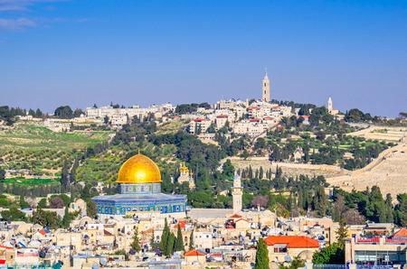 예루살렘, 이스라엘 오래 된 도시의 스카이 라인.