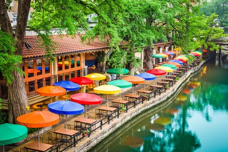 San Antonio, Texas, USA cityscape at the River Walk. Stock Photo