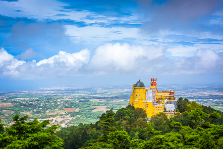 Sintra, Portugal at Pena National Palace. 免版税图像