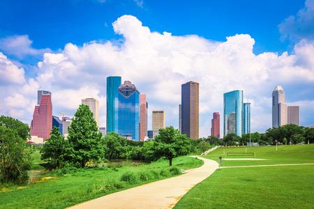 Houston, Texas, USA downtown city skyline. Stock Photo