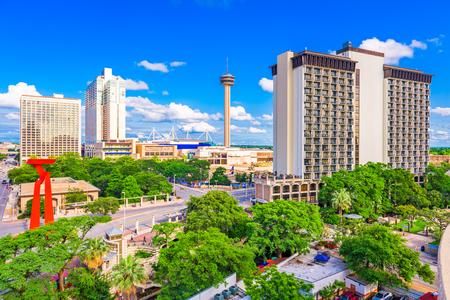 San Antonio, Texas, USA downtown cityscape.