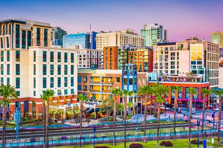 샌디에고, 캘리포니아, 미국 시내 도시의 스카이 라인.