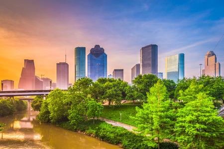 휴스턴, 텍사스, 미국 시내 도시의 스카이 라인.