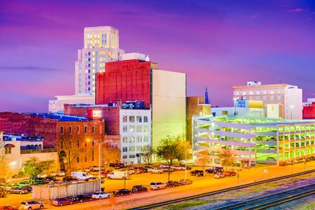 Durham, North Carolina, USA downtown skyline at twilight. Stock Photo