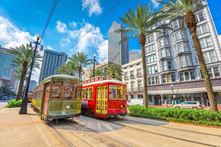 New Orleans, Louisiana, USA street cars.