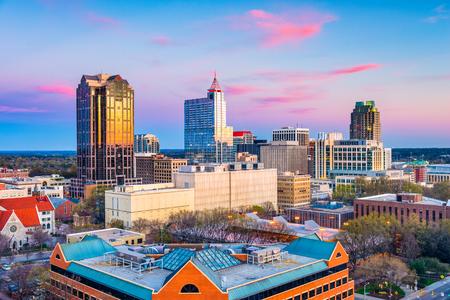 Raleigh, North Carolina, USA downtown city skyline. Stock Photo