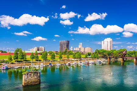 beautiful location: Augusta, Georgia, USA downtown city skyline. Stock Photo