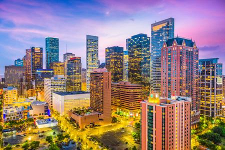 ヒューストン、テキサス、米国ダウンタウンの街並み。