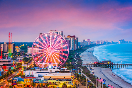 Myrtle Beach, South Carolina, Verenigde Staten stad skyline.
