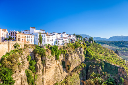 Ronda, Spain old town cityscape on the Tajo Gorge.