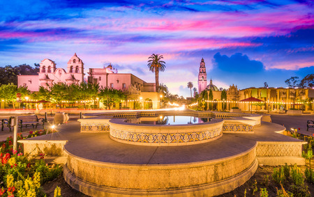 californian: San Diego, California, USA park and square.