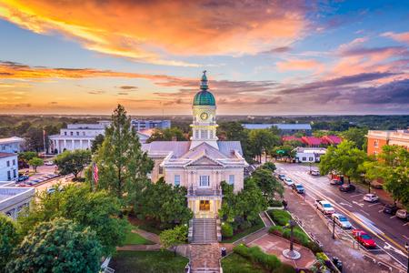 Ateny, Georgia, USA cityscape centrum miasta.
