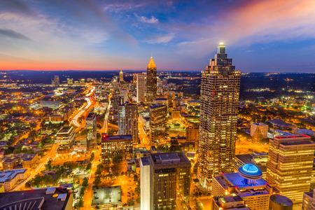 Atlanta, Georgia, USA downtown skyline at dusk. Stock Photo