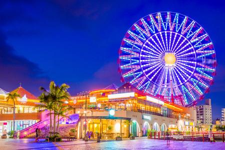 Okinawa, Japan at American Village. Stockfoto