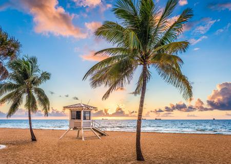 Fort Lauderdale, Florida, Verenigde Staten aan het strand. Stockfoto