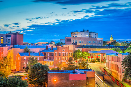 Athene, Georgië, Verenigde Staten downtown cityscape.