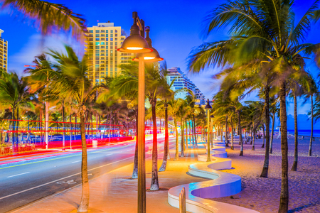 Ft. Lauderdale, Florida, USA on the beach strip. Stock Photo