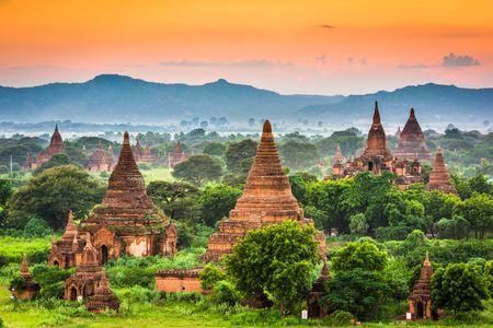 Bagan, Myanmar ancient temple ruins. 스톡 콘텐츠