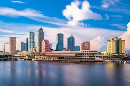 탬파, 플로리다, 미국 시내 도시의 스카이 라인.