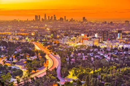 Los Angeles, California, USA skyline, Stock Photo