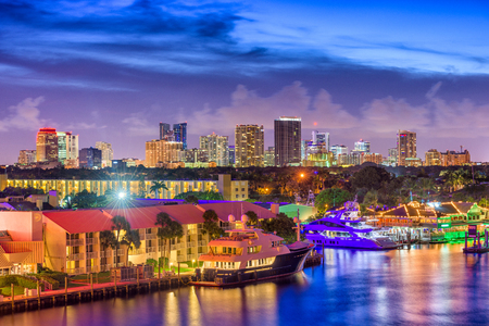 Fort Lauderdale, Florida, USA skyline. Stockfoto