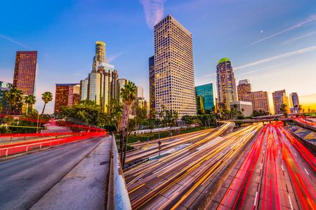 Los Angeles, California, USA skyline and highways. Reklamní fotografie