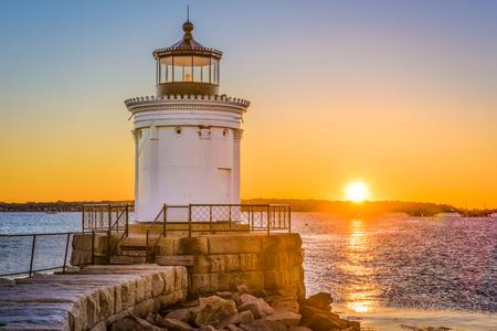 South Portland, Maine, USA at the Portland Breakwater Light.