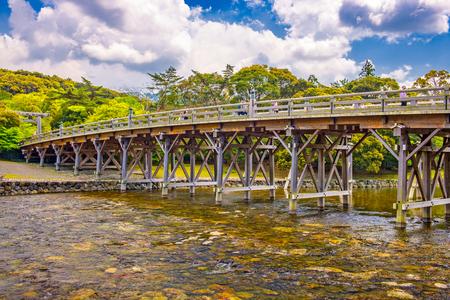 Ise, Japan at Uji Bridge of Ise Grand Shrine.