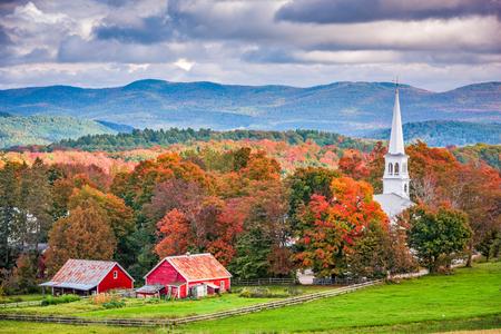 Peacham, Vermont, USA rural autumn scene.
