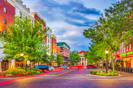 Gainesville, Florida, USA downtown cityscape. Stock Photo