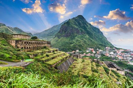 Jiufen, Taiwan at the historic 13 Levels ruins. Stockfoto