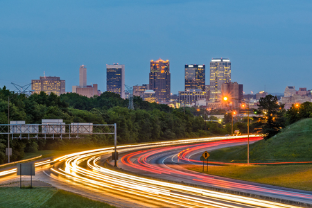 Birmingham, Alabama, USA downtown city skyline.