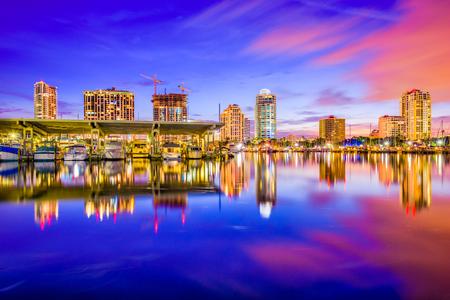 pete: St. Petersburg, Florida, USA downtown city skyline.