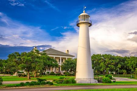 Biloxi, Mississippi USA at Biloxi Lighthouse. 写真素材