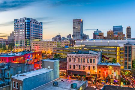 Memphis, Tennessee, USA downtown skyline. 版權商用圖片