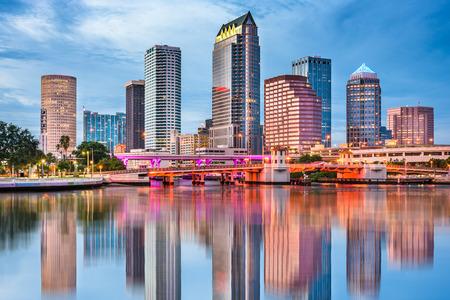 탬파, 플로리다, 미국 시내 스카이 라인.