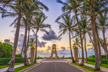 Palm Beach, Florida, USA clock tower on Worth Ave.