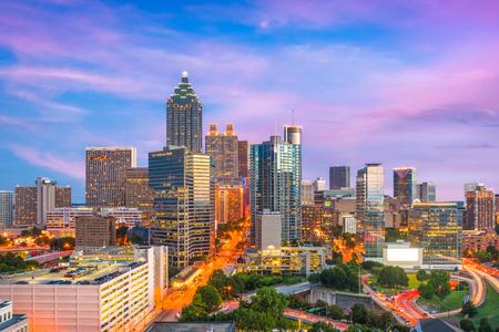 Im Stadtzentrum gelegene Stadtskyline Atlanta, Georgia, USA.