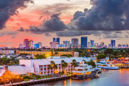 Fort Lauderdale, Florida, USA skyline. Stock Photo
