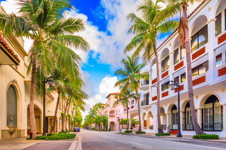 Palm Beach, Florida, USA at Worth Ave. Imagens