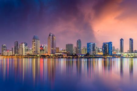 Skyline von San Diego, Kalifornien, USA. Standard-Bild