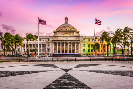 San Juan, Puerto Rico capitol building. Stock Photo
