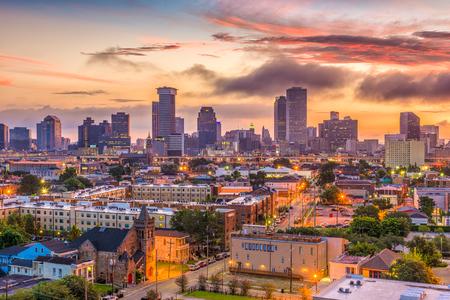 Horizon de la Nouvelle-Orléans, Louisiane, États-Unis. Banque d'images - 88199304